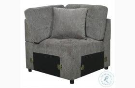 Logansport Gray Corner Chair