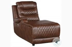 Putnam Brown Power LAF Reclining Chaise With Usb Port