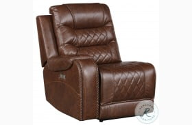 Putnam Brown Power LAF Reclining Chair With Usb Port