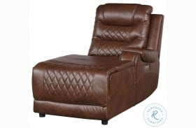 Putnam Brown Power RAF Reclining Chaise With Usb Port