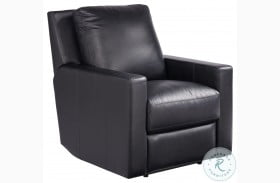 Curated Carter Hudson Jet Black Leather Power Recliner