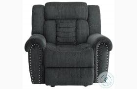 Nutmeg Charcoal Gray Glider Reclining Chair