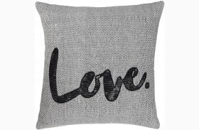 Mattia White and Black Pillow