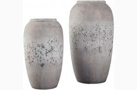 Dimitra Brown and Cream Vase Set of 2