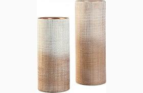 Dorotea Gold and White Vase Set of 2
