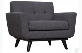 James Grey Linen Chair