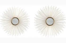 Doniel Antique Gold Accent Mirror Set of 2