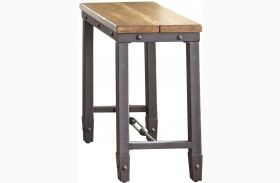 Ashford Antiqued Honey Finish Chairside End Table