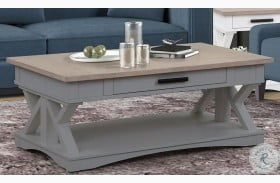 Americana Modern Dove Cocktail Table