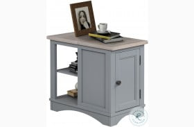 Americana Modern Dove Chairside End Table
