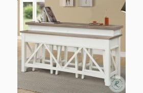 Americana Modern Cotton Everywhere Console  Bar Table