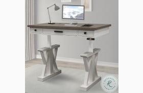 "Americana Modern Cotton 56"" Power Lift Desk"
