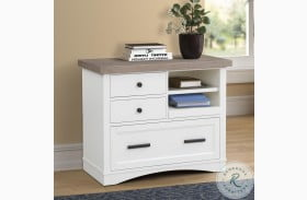 Americana Modern Cotton Functional File Cabinet With Power Center