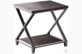 Alex Dark Grey Brown End Table