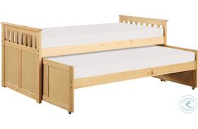 Bartly Natural Pine Twin Over Twin Daybed