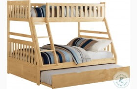 Bartly Natural Pine Twin Over Full Bunk Bed With Twin Trundle