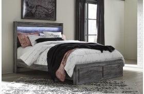 Baystorm Gray Storage Panel Bed
