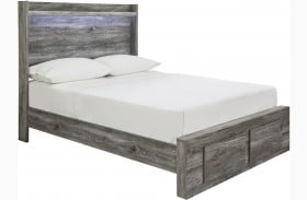 Baystorm Gray Full Single Underbed Storage Panel Bed