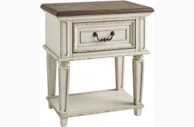 Realyn Chipped Two Tone 1 Drawer Nightstand