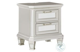 Lindenfield Silver 2 Drawer Nightstand