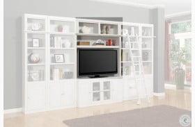 "Rawlins White 56"" Bookcase Bridge, Shelf & Backpanel"