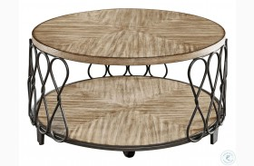 Belcourt Rustic Honey Cocktail Table