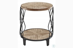 Belcourt Rustic Honey End Table