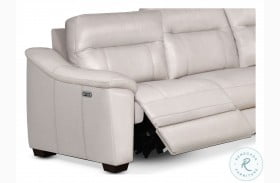 Casa Ivory Leather LAF Power Recliner