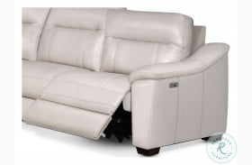 Casa Ivory Leather RAF Power Recliner