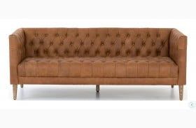"""Carnegie Natural Washed Camel 75"""" Williams Leather Sofa"""