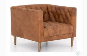 Carnegie Natural Washed Camel Williams Leather Chair