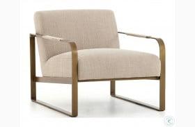 Irondale Stonewash Print Ecru Jules Chair