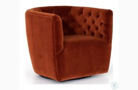 Kensington Sapphire Rust Hanover Swivel Chair