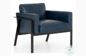 Kensington Ramona Dakota Leather Sapphire Chair