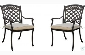 Charissa Antique Black Outdoor Arm Chair Set Of 2