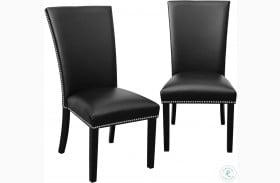 Camila Black And Espresso Dining Chair Set Of 2