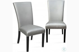 Camila Silver And Espresso Dining Chair Set Of 2