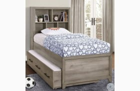 River Creek Birch Brown Youth Bookcase Bed with Trundle