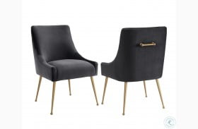 Beatrix Gray Velvet Side Chair