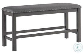 Myshanna Two tone Gray Double Upholstered Bench