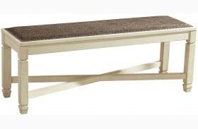 Bolanburg Two-tone Large Upholstered Dining Bench