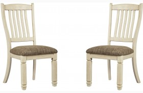 Bolanburg Two-tone Finish Dining Upholstered Side Chair Set of 2