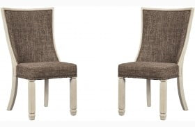 Bolanburg Two Tone Dining Upholstered Side Chair Set of 2