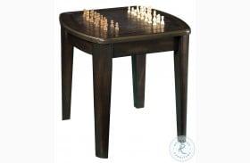 Diletta Dark Walnut Game End Table With Chessboard