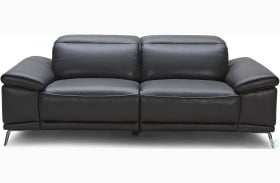 Giovani Black Leather Power Reclining Sofa