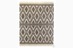 Willow Bone Grey And Cream Diamond Flatweave Medium Rug