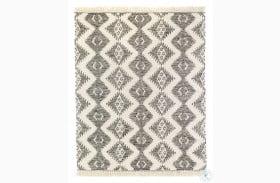Willow Bone Charcoal And Cream Wool Medium Rug