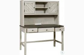Riverwood Gray Door Desk With Hutch