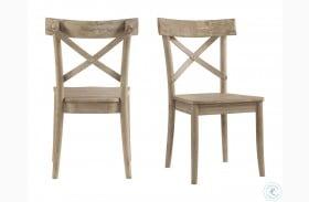 Keaton Beach X Back Wooden Side Chair Set Of 2