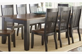 Lawton Black and Brown Extendable Dining Table